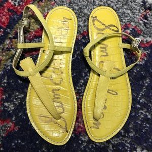 Sam Edelman Bright Yellow Gigi Sandals